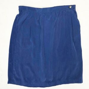 Susan Graver Studio Blue Skirt With Pockets